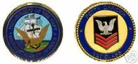 USN NAVY PETTY OFFICER 1ST CLASS PATCH  CHALLENGE COIN