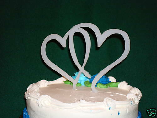 double heart wedding cake toppers acrylic hearts wedding cake topper white ebay 13707