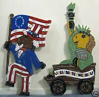 4th of July Horse Parade Patriotic yard art decoration