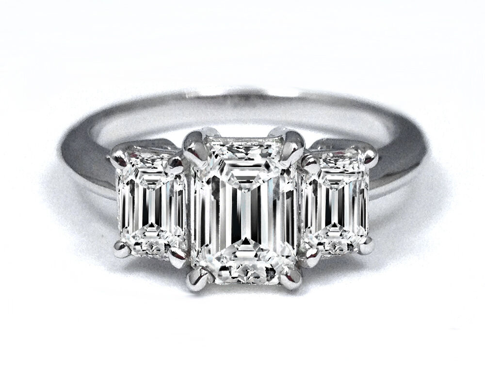 carat emerald cut diamond engagement ring vs ebay. Black Bedroom Furniture Sets. Home Design Ideas