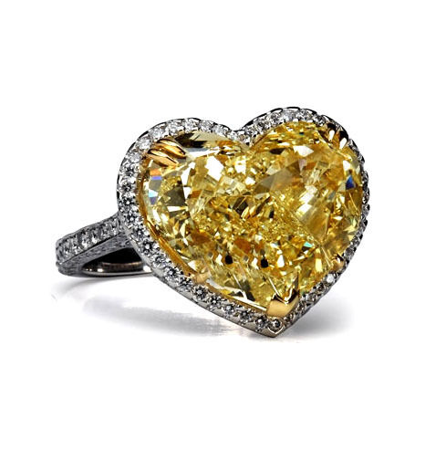 2 42 Carat Heart Shape Diamond Engagement Ring VS1