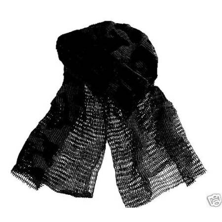 img-MILITARY SCRIM SCARF ARMY ISSUE SAS BLACK face neck cover Night Survival Cotton