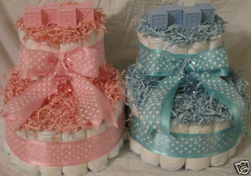 Baby Booties Diaper Cakes Can Make In All Colors Ebay