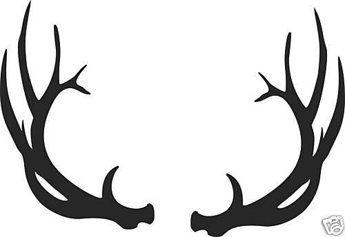 Large 7 Pt Elk Antlers Decal Bow Arrow Blind Deer Hunt Ebay