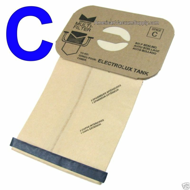 100 Bags For Electrolux Canister Vacuum Style C 4 Ply Ebay