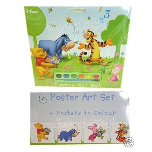 disney winnie the pooh painting poster art set gift new ebay. Black Bedroom Furniture Sets. Home Design Ideas