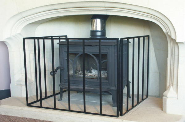 Multi Fuel Amp Wood Burning Stove Heavy Guard Fire Screen Ebay