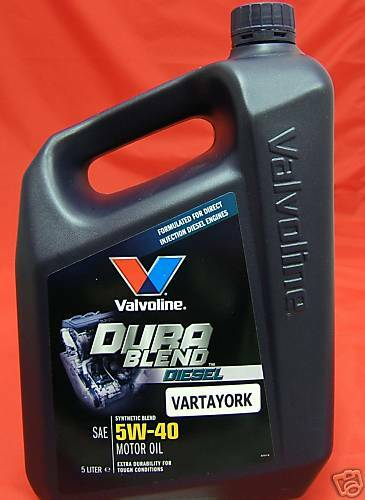 Valvoline dura blend diesel motor oil sae 5w 40 5 ltr semi for 5 w 40 motor oil