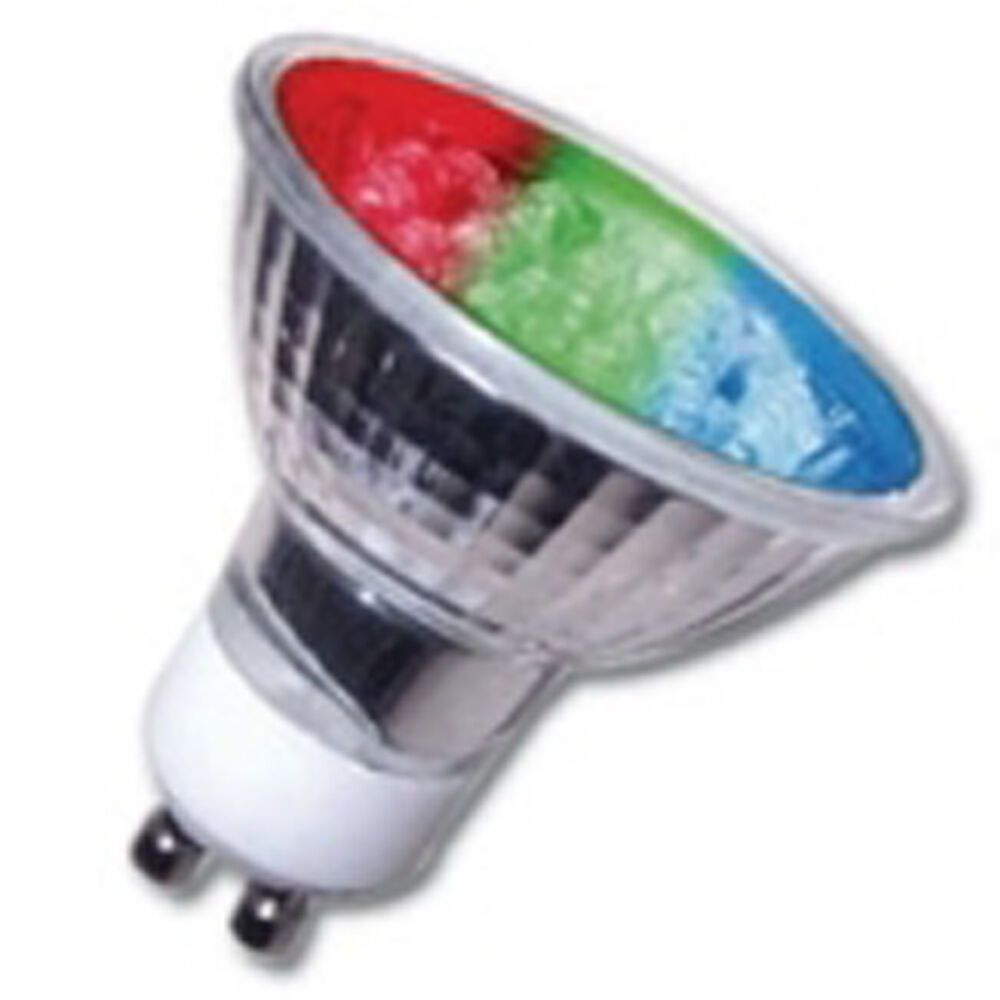 4 X Gu10 Led Multi Colour Changing Mood Christmas Light Bulbs Gu10 Lamp Ebay