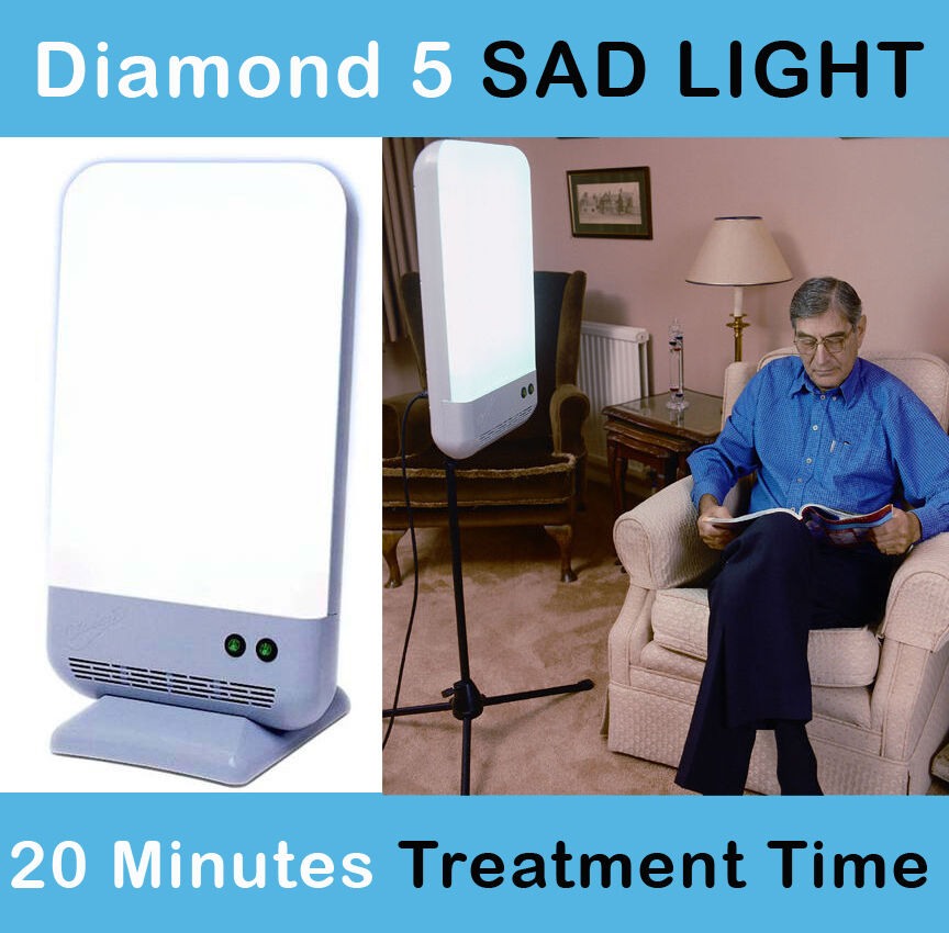 d5 light box 10 000 lux day lightbox therapy lamp seasonal affective. Black Bedroom Furniture Sets. Home Design Ideas