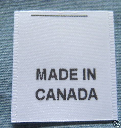 50 printed clothing labels care label made in canada ebay With clothing labels canada