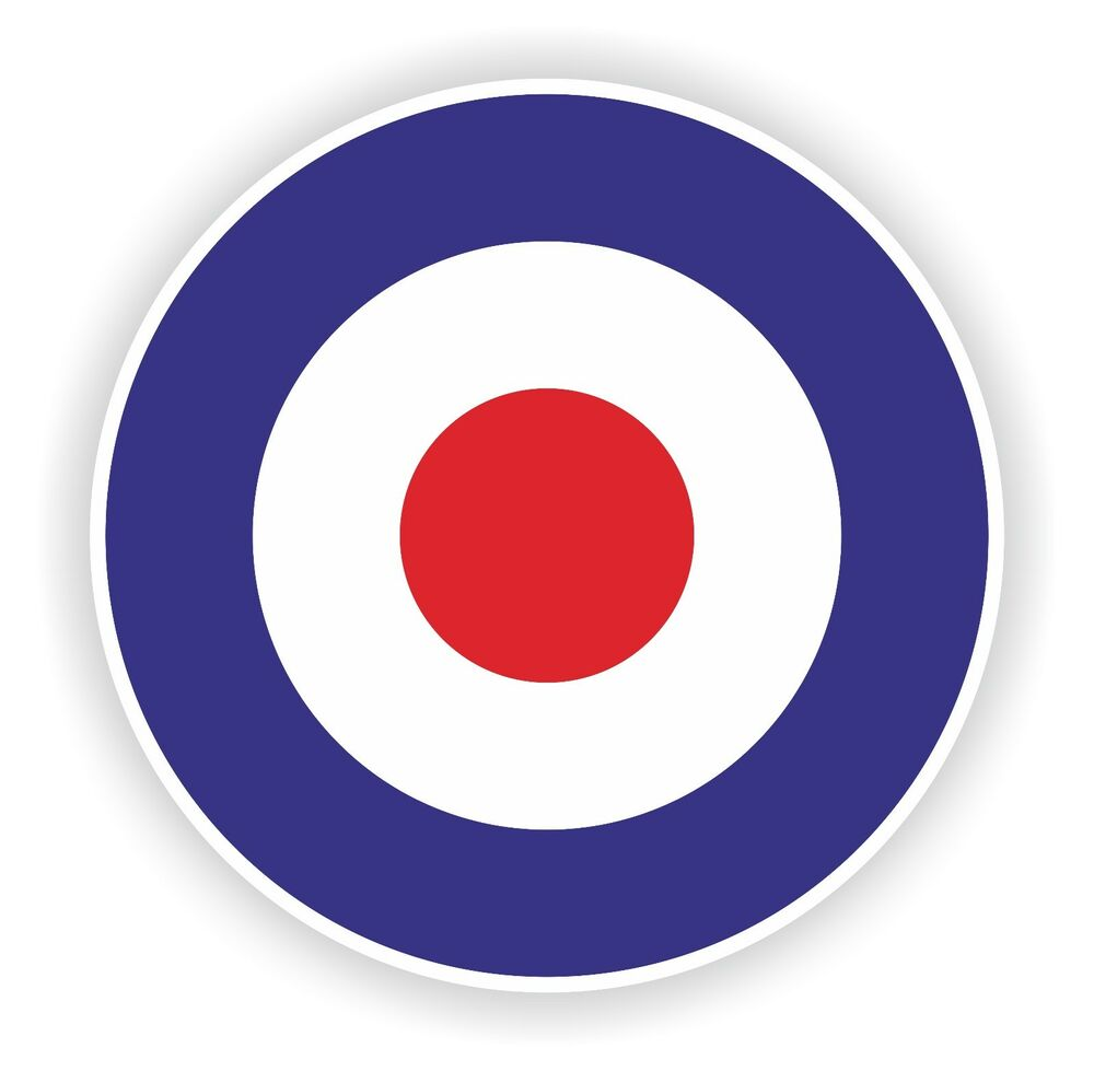 Royal Air Force Roundel Sticker For Bumper Motorcycle