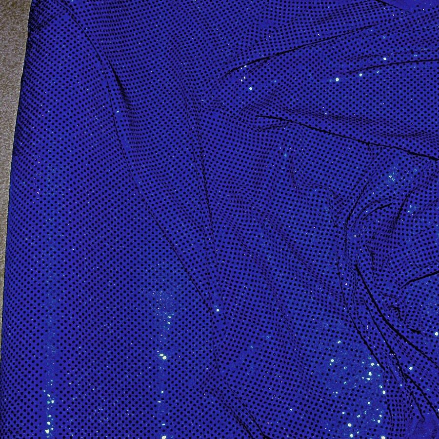 Sequin knit stretch disco dots fabric royal by the yard ebay for Cloth by the yard