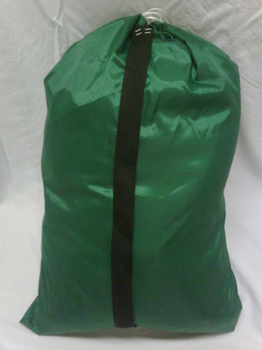 Heavy Duty 30x40 Nylon Laundry Bag Green Strap Made In
