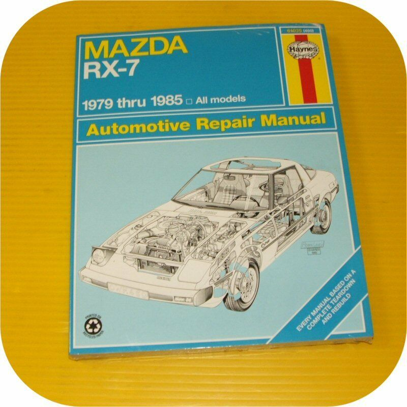Repair Manual Book Mazda Rx