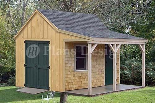 12 39 x 12 39 cottage cabin shed plans blueprints 81212 ebay for Two story shed plans free