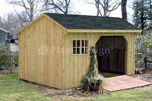 8 39 x 10 39 firewood storage shed plans material list for Saltbox barn