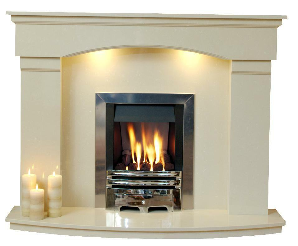 Cambridge marble fireplace marble fire surround ebay for Marble for fireplace surround
