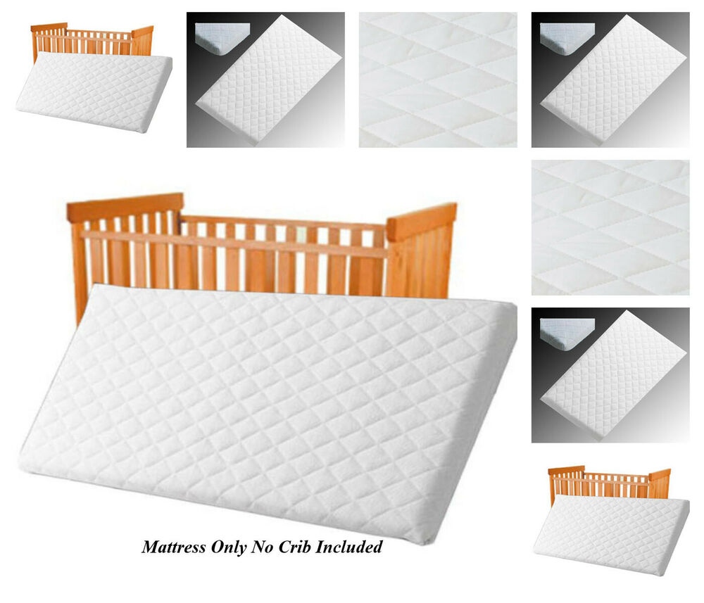 Details About Baby Mattress Cot Crib Pram Swing Bed Breathable Quilted 84x43x4cm