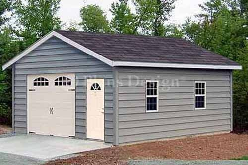 Garage With Storage Free Materials List: 18 X 28 Car Garage / Workshop Shed Building Plans