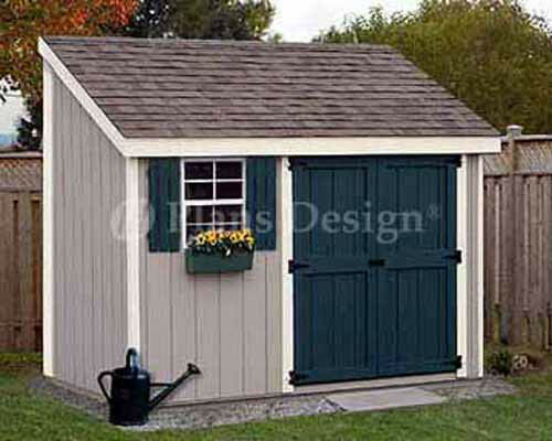 4 39 x 10 39 storage utility garden shed building plans for Lean to house plans