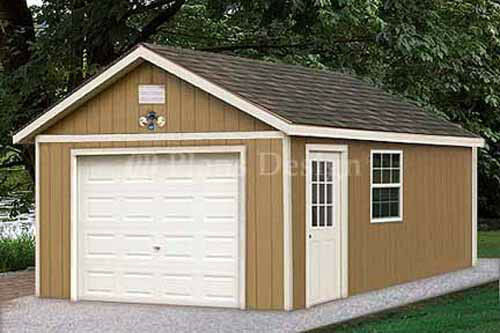 Garage With Storage Free Materials List: 12 X 20 Garage Plans Shed Building Blueprints, Design