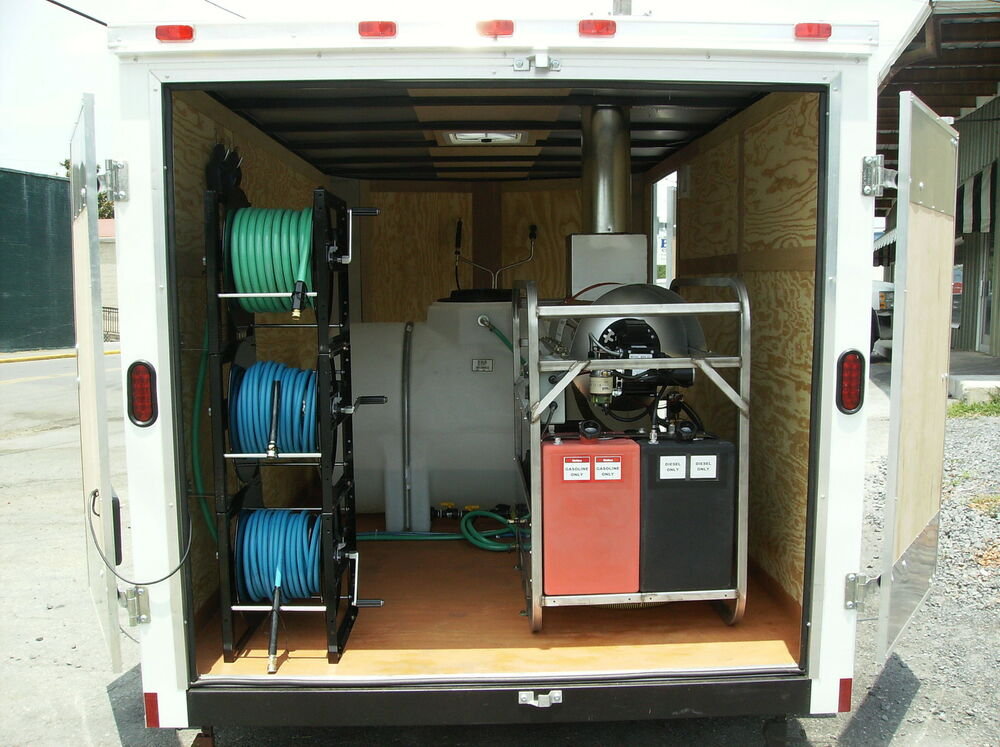 Hot Water Pressure Washer Trailer Mounted Enclosed Ebay