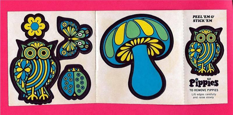 Psychedelic Hippie Mushroom 1960 S Pippies Stickers 2 Ebay