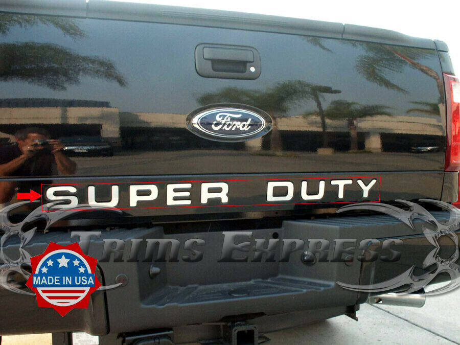 2008 2016 ford super duty f 250 f 350 tailgate trim molding letters 9pc stainles ebay. Black Bedroom Furniture Sets. Home Design Ideas
