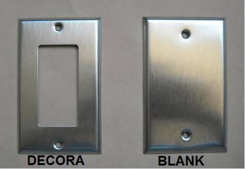 Decora Blank Stainless Steel Cover Plate 1 2 3 4 Gang Ebay