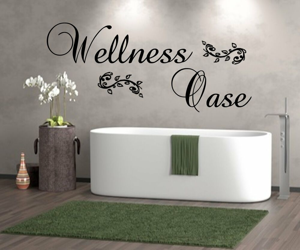 wandtattoo badezimmer wellnessoase wellness oase wt 29956 wand sticker fliesen ebay. Black Bedroom Furniture Sets. Home Design Ideas