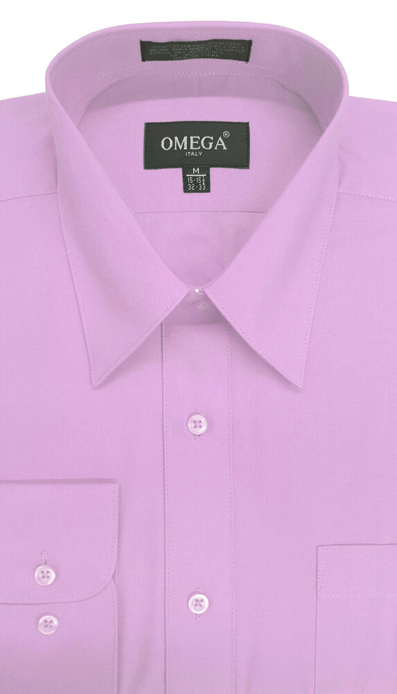 new mens lilac long sleeve dress shirt all sizes length ForMens Dress Shirt Sleeve Length