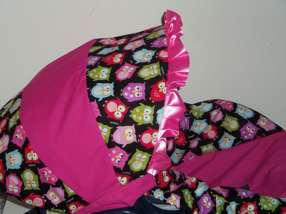 Baby Girl Infant Car Seats: PINK BABY OWL Baby Infant Car Seat Cover Graco MOD OWL