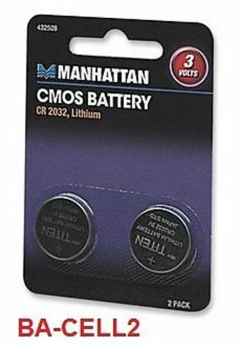 lithium cmos battery cr2032 2 pack ba cell2 ebay. Black Bedroom Furniture Sets. Home Design Ideas