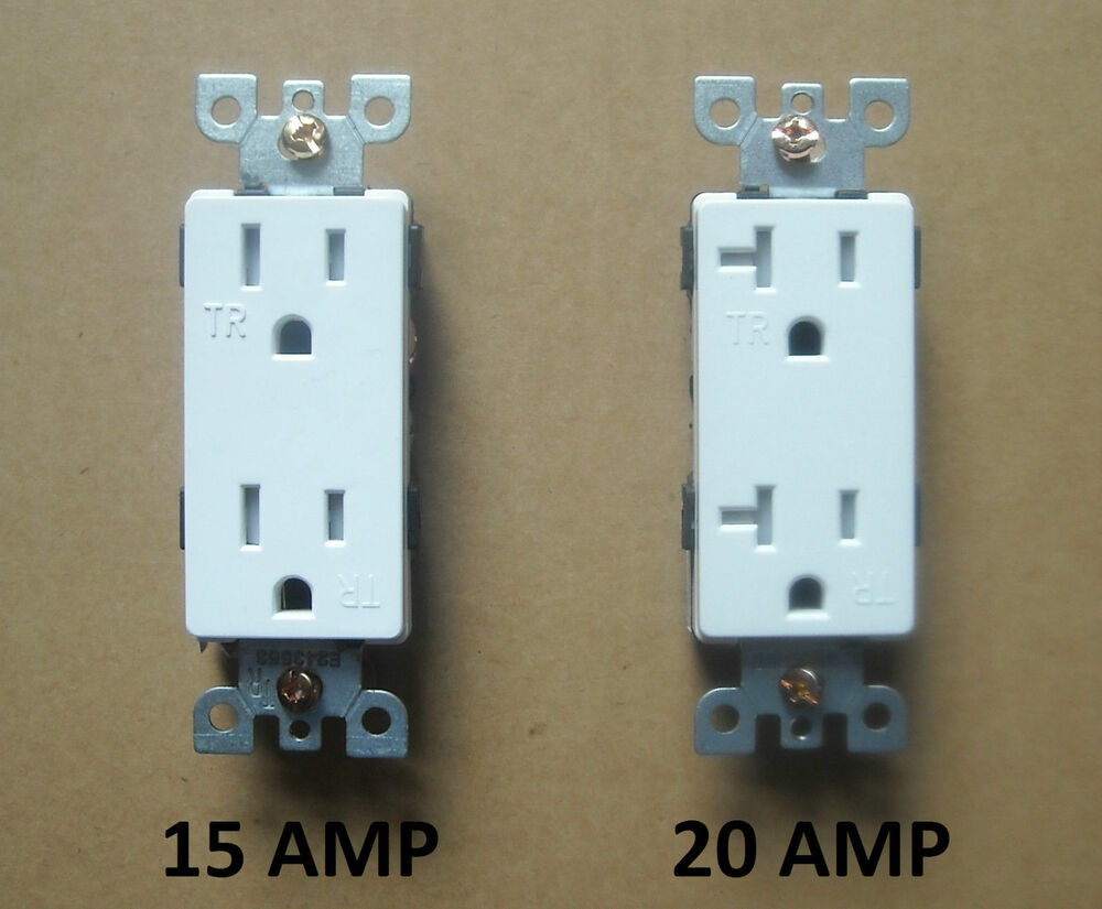 DECORA WALL 15A / 20A AMP RECEPTACLE PLUG OUTLET FIT 5325 16342 ...