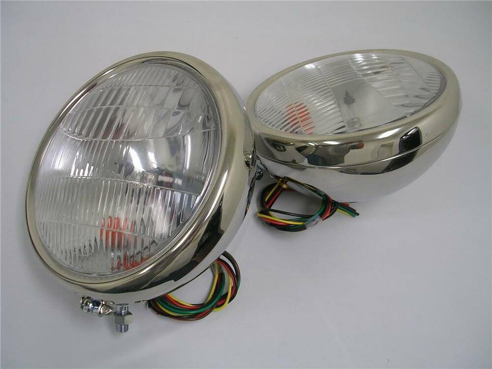 1932 Ford Headlights : Ford stainless headlights w turn signals