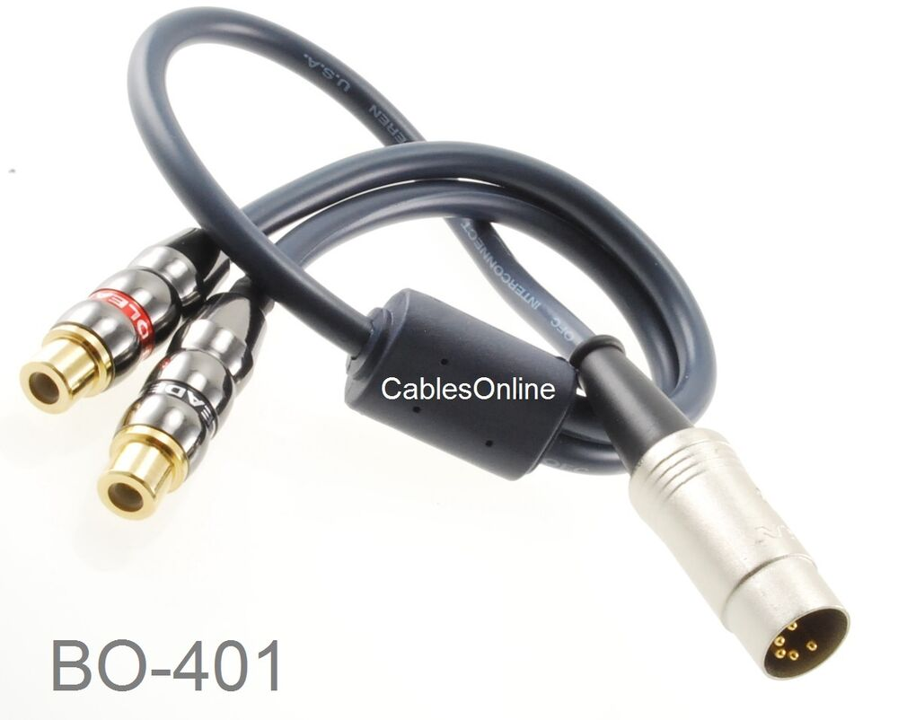 1ft 5 pin din male to 2 rca female jumper cable for bang. Black Bedroom Furniture Sets. Home Design Ideas
