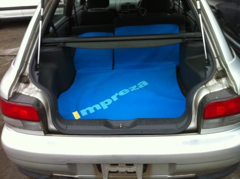 jdm subaru impreza gf8 sti wagon option blue seat covers oem ebay. Black Bedroom Furniture Sets. Home Design Ideas