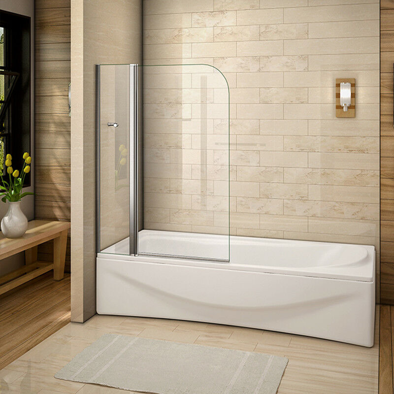 new aica 180 176 pivot over bath shower screen tempered glass over bath shower screens ebay
