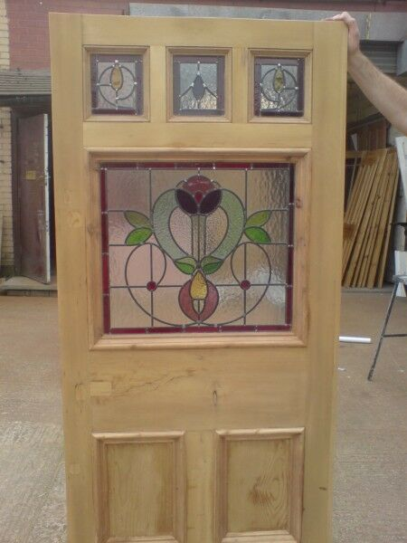 ORIGINAL VICTORIAN EDWARDIAN STAINED GLASS EXTERIOR FRONT ...