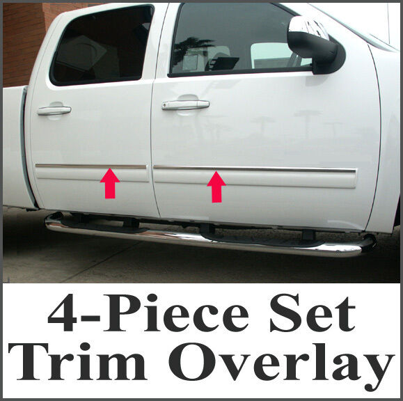 2007-2008 Chevy Silverado Crew Cab 4Pc Chrome Body Side