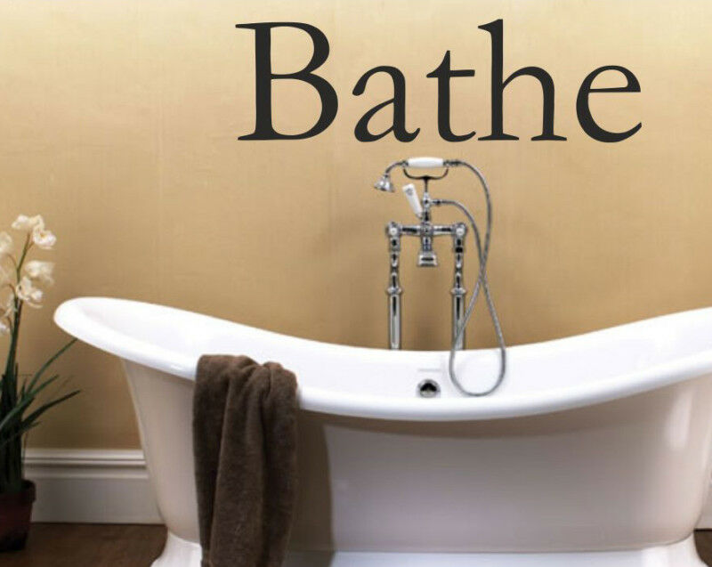 Wall Decoration Text : Bathe wall art sticker for bathroom text quotes