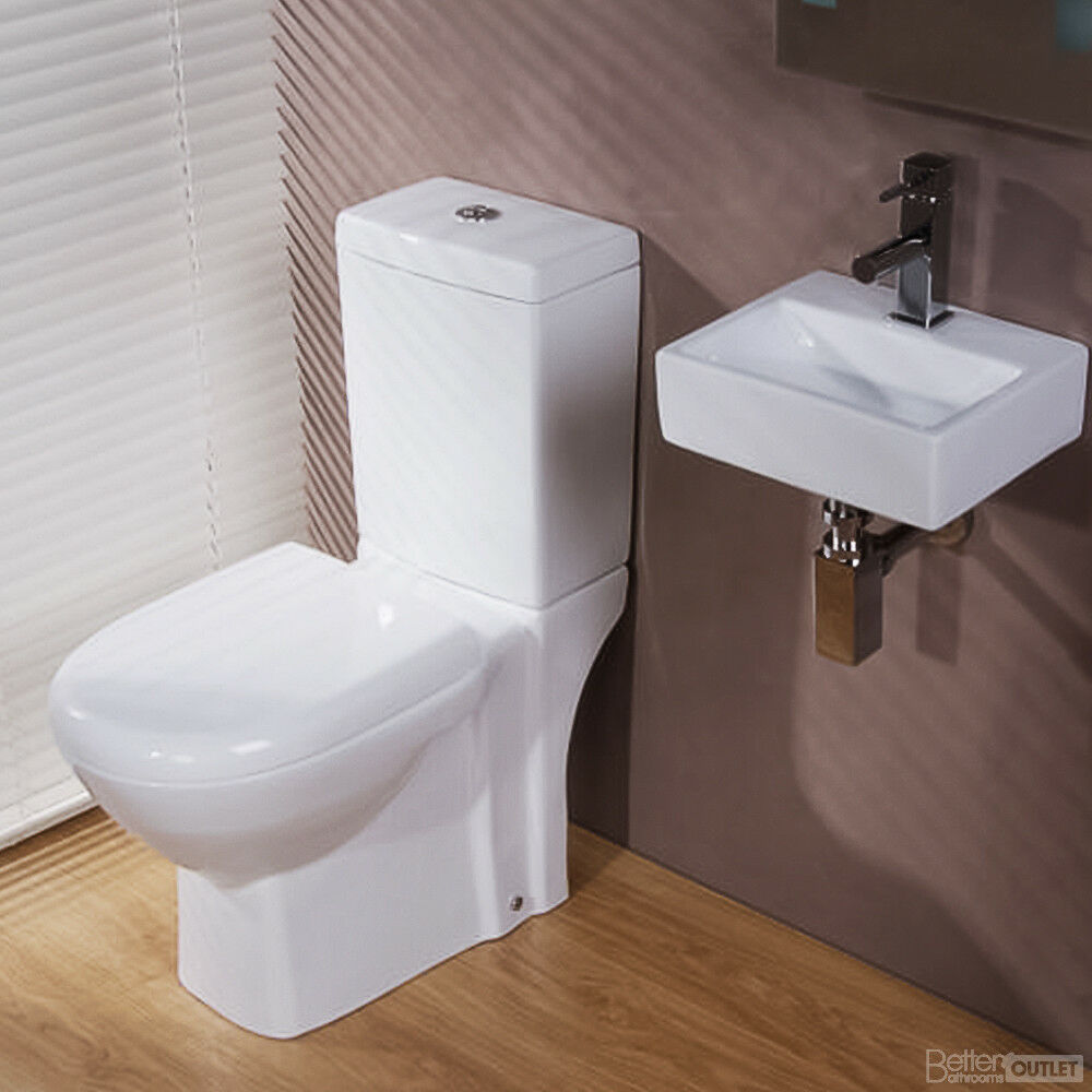 Compact Modern Toilet Basin Sink Eco 325 Cloakroom Bathroom Suite Set ...