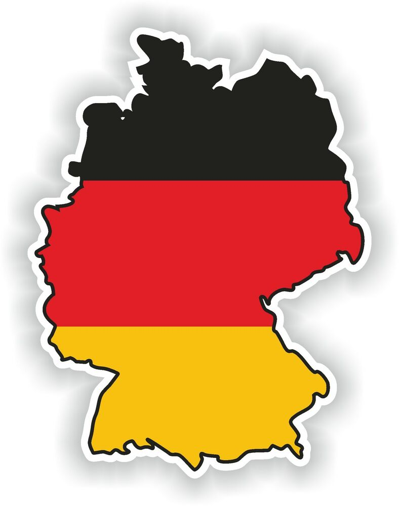 1x sticker germany silhouette bumper decal map flag ebay. Black Bedroom Furniture Sets. Home Design Ideas