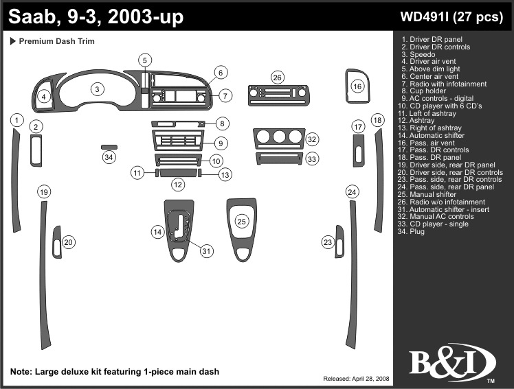 service manual  how to remove dash on a 2004 saab 42072