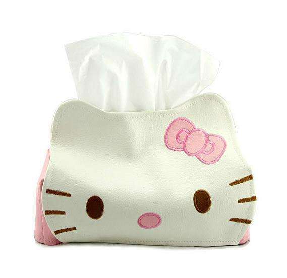 Hello Kitty Leather Tissue Napkin Paper Box Case Holder Ebay