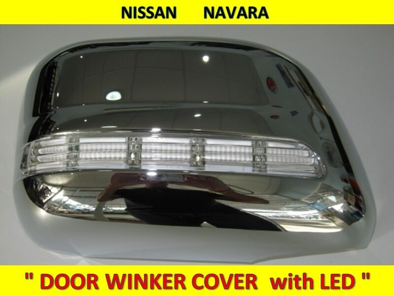 Door Mirror Winker Cover With Led Light For Nissan