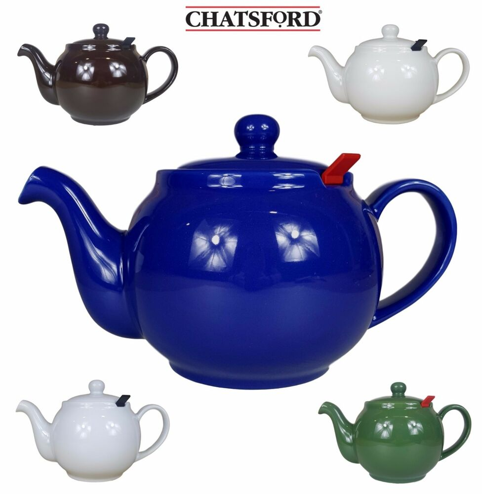 Chatsford Ceramic Teapot 2 4 6 Or 10 Cup In Blue Green