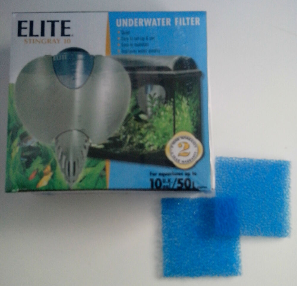 Elite stingray 10 internal aquarium filter very quiet ebay for Quiet fish tank filter