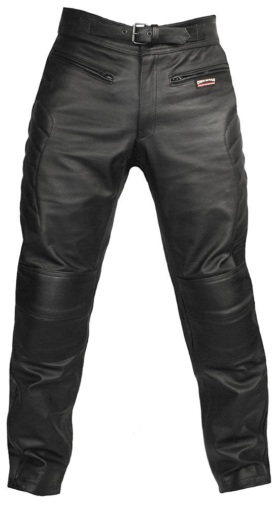 Mens Leather Motorcycle Jeans